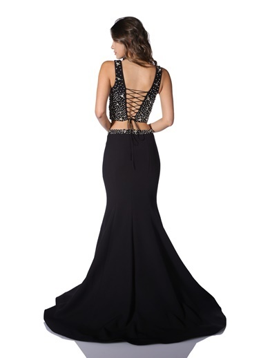 Pierre Cardin Balık Abiye Elbise Siyah
